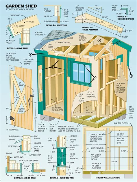 garden shed blueprints lloyd s blog plans for 7 x 8 garden shed