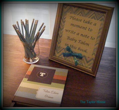 baby shower guest book idea the house