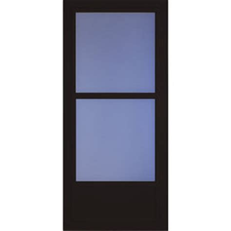 Black Screen Door by Shop Larson Tradewinds Black Mid View Tempered Glass