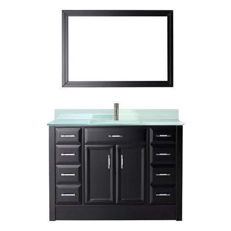 studio bathe calais 63 in vanity in espresso with solid surface studio bathe calais 48 in w by 22 in d vanity in