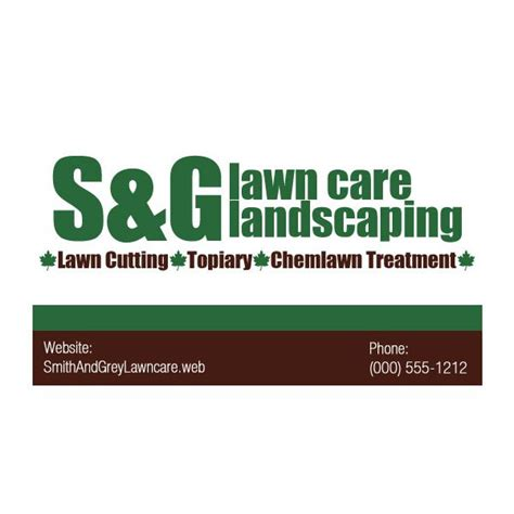 lawn care business card templates free free printable lawn mowing business cards gallery card