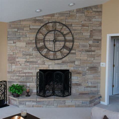 beautiful stacked fireplace cost on sales now