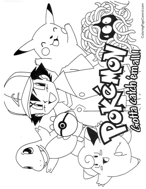 Pokemon Coloring Page 01 Coloring Page Central Colouring In Pages