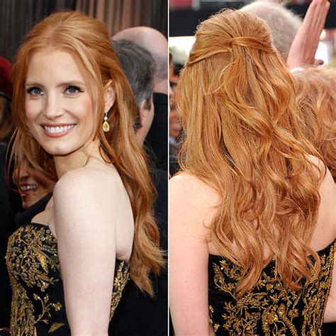 half up half down hairstyles red carpet penteados para convidadas de casamento