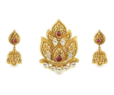 Zinia Set buy zinia gold pendant set for best zinia collection orra jewellery store