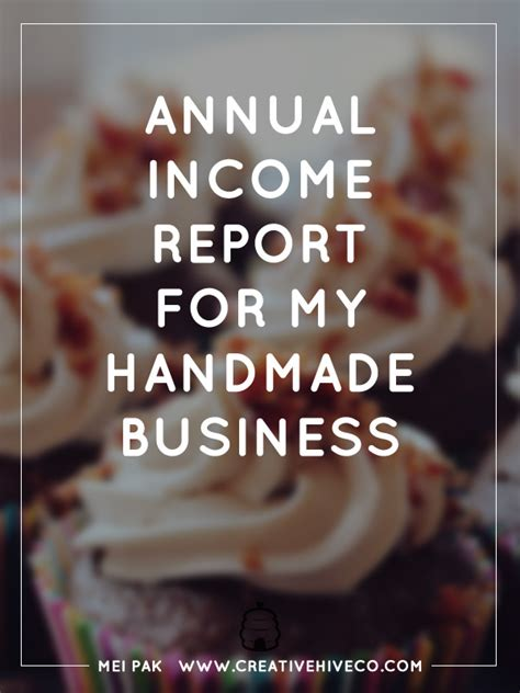 Handmade Business - 2014 income report for my handmade business