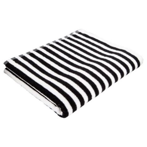black and white bathroom towels buy tesco black white stripe bath towel from our bath