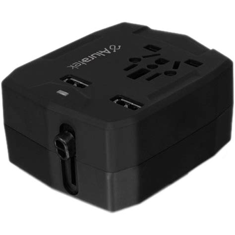 Universal Travel Dual Usb aluratek universal travel adapter with dual usb ports atcp03f