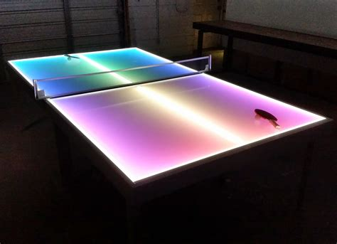 Lighted Table by Barchefs Light Up Table Tennis Lighted Ping Pong Tables
