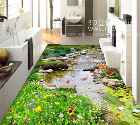 harga wallpaper dinding taman 3d dan spesifikasinya lantai 3d papel de parede foto kustom lantai 3d taman air