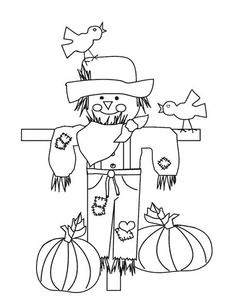 Scarecrow Coloring Pages Coloring Pages To Print Scarecrow Color Page