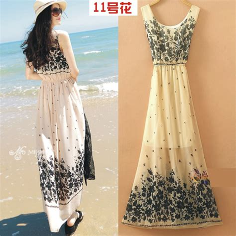 Dress Wanita Flowers dress wanita motif bunga bohemian all size motif 11 white jakartanotebook