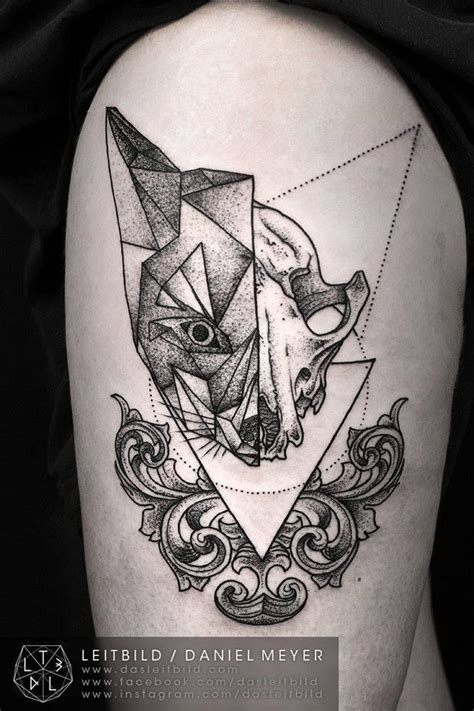tattoo geometric fox my next tattoo on the shoulder starting that half sleeve