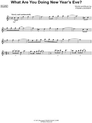 new year flute sheet digital sheet of frank loesser for flute