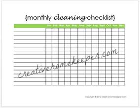 free monthly checklist template search results