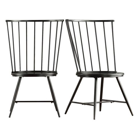high back dining chairs rhinestone wood black white homesullivan walker black wood and metal high back dining chair set of 2 40550c bk3a2pc the