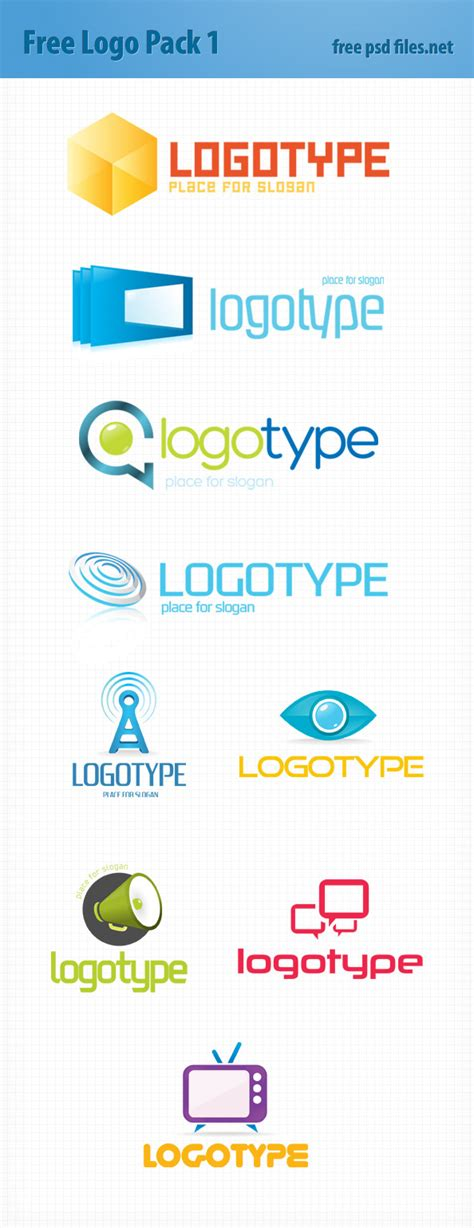 psd logo design templates pack 1 free psd files