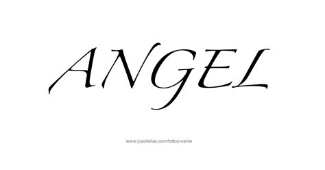 angel name tattoo designs name designs