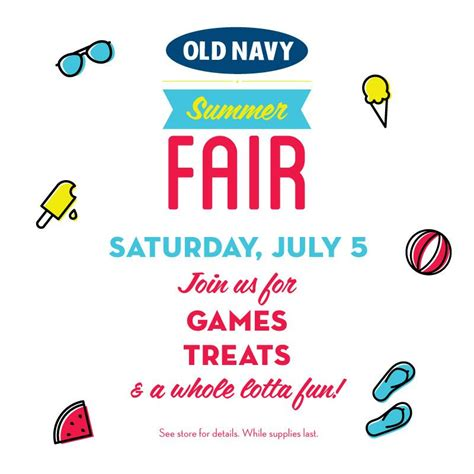 old navy coupons july 2014 old navy canada summer fair event in stores july 5