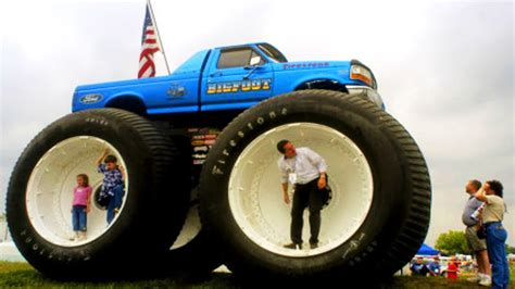 wheels bigfoot truck bigfoot trucks jump