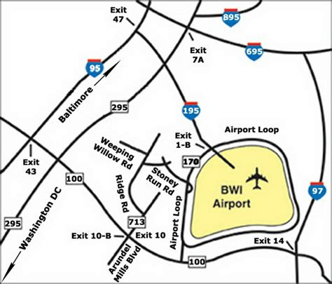 bwi airport map bwi airport map