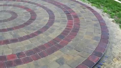 circle paver patio kits circular patio using belgard pavers kit