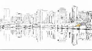 sketchbook vancouver auto draw 2 coal harbour downtown vancouver skyline