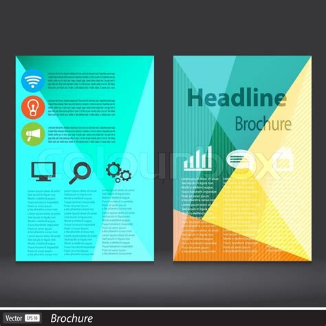 flyer design wiki abstract triangle brochure vector flyer design template