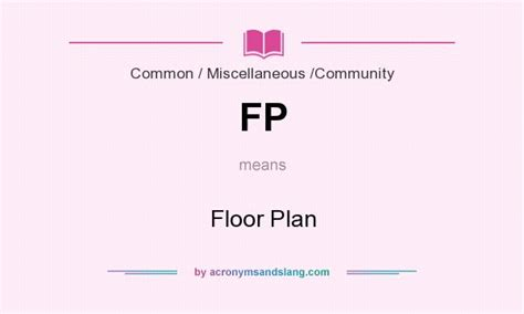 what does floor plan mean fp floor plan in common miscellaneous community by