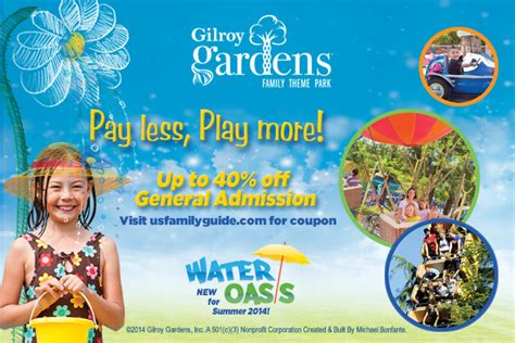 gilroy gardens family theme park coupons save on gilroy gardens family theme park