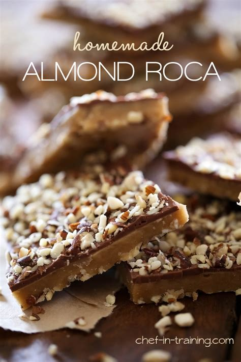Handmade Toffee - almond roca chef in