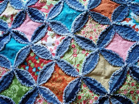 Denim Rag Quilt Pattern by A Quilter June 2010