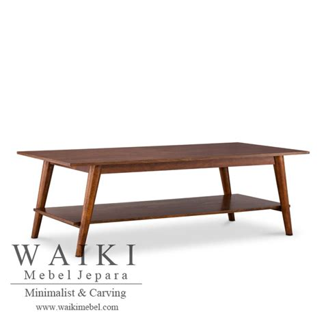 Meja Tamu Coffe Table Minimalis Modern Kayu Jati Belanda Blitar coffee table meja tamu mid century jepara