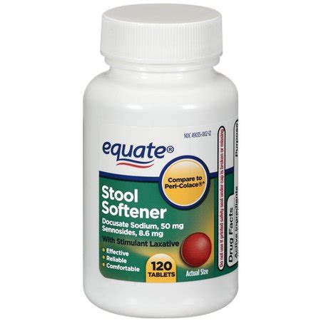 Walmart Stool Softener Laxative by Equate Stool Softener Tablets With Stimulant Laxative