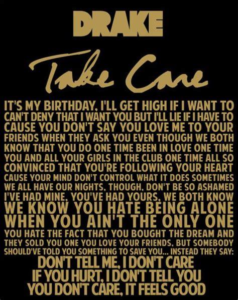 drake rihanna take care lyrics drake take care lyrics quote music of my heart