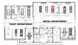 Body Shop Floor Plans by Floor Plan Of Shop Specialty Paint Amp Body