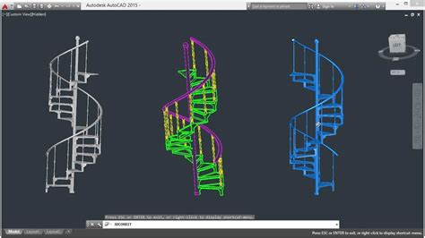 python cad library modeling a staircase with autocad