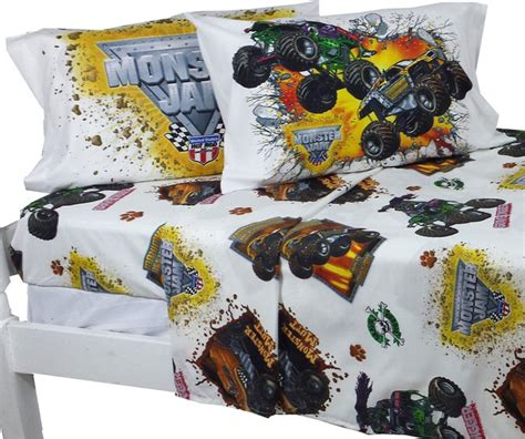 monster truck bed set monster jam full sheet set monster truck destruction
