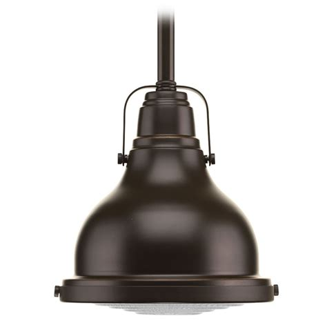 Pendant Light Bronze Farmhouse Mini Pendant Light Rubbed Bronze Fresnel Lens By Progress Lighting P5050 108