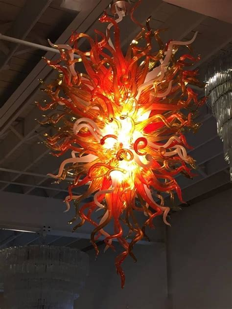 Chihuly Chandeliers Handblown Glass Chandelier In The Style Of Chihuly For Sale At 1stdibs