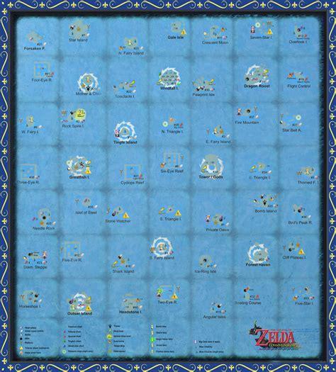 wind waker map the wind waker sea chart large scale by zantaff on deviantart