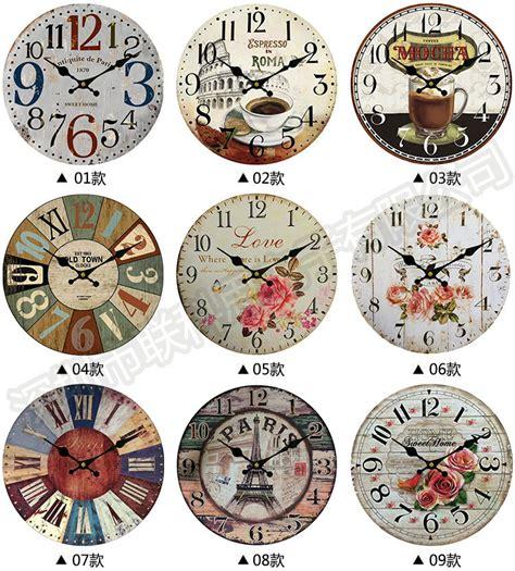 Diskon Jam Dinding Vintage Dari Kayu Di Jakarta Barat jam dinding vintage shape wall clock lazada indonesia