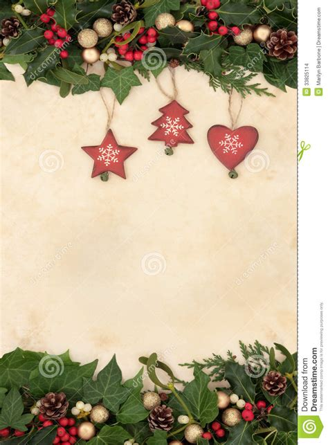 Retro Paper Christmas Decorations - christmas decorations stock photo image of heart ornament 33825114