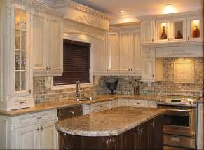kitchen kitchen design with small tile mosaic backsplash
