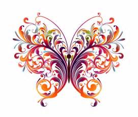 abstract designs to draw abstract floral butterfly