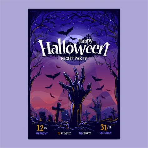 design poster for party halloween party poster design vector premium download