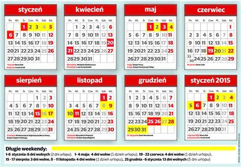 Kalendarz 2018 Daty świąt Wolne Dni W 2014 Roku Będzie Ich Aż 115 Kalendarz