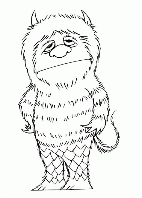 free coloring pages of where the wild things are