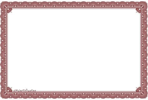 free printable certificate border templates free certificate borders to