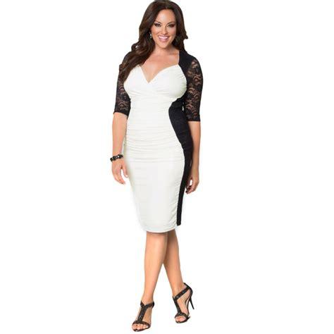 dresses big size plus size clothing l 6 xl dress casual v neck bodycon dress